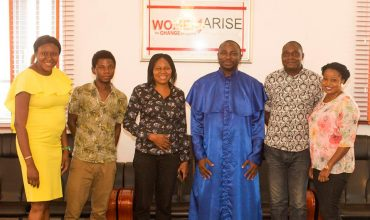 Rev. James Akinadewo on a work visit to Women Arise